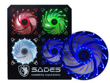 【台中平價鋪】全新 SADES 賽德斯聖甲蟲魔扇 TUBRO 12公分 LED 機殼散熱風扇 白光