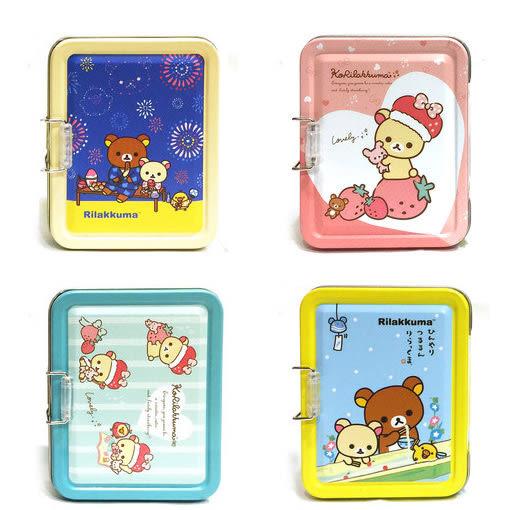 日本拉拉熊 懶懶熊 兩層收納小鐵盒 收納盒 便條紙 名片盒 韓國製造 iae創百市集