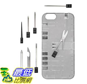 [106美國直購] 工具箱 IN1 Multi Tool Case for iPhone 6/6s - Retail Packaging - Clear with Black tools _O65