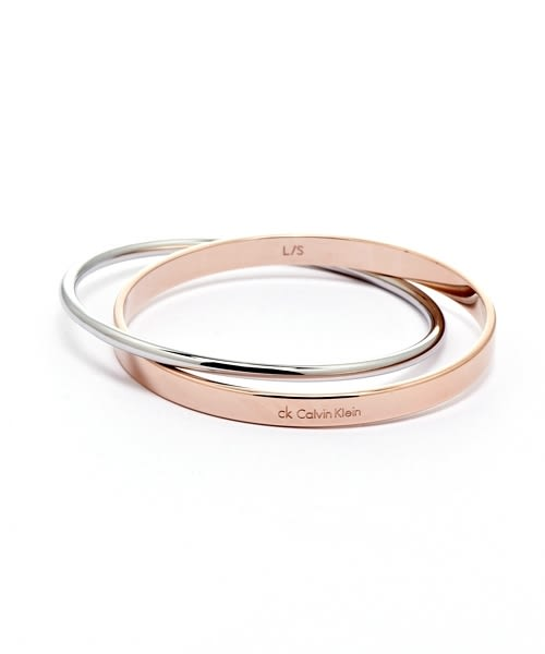 CK Calvin Klein  玫瑰金雙色簡約雅緻手環(KJ63BB0101)