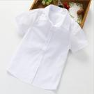 男童純白襯衫 短袖上衣 橘魔法 表演 畢業典禮 現貨 中童 大童 男童 襯衫 花童