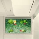 3D立體地貼 墻貼創意地板貼畫洗手間浴室地貼防水耐磨地磚貼防滑地貼墊TW【快速出貨八折鉅惠】