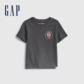 Gap男幼童 Gap x Marvel 漫威系列純棉短袖T恤 687878-藍灰色