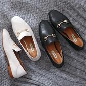 方頭平底鞋 粗跟軟面懶人鞋 工作鞋舒適鞋【多多鞋包店】z6962
