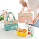 手提包防水女包手拎便當袋加厚便當盒帶飯包帆布保溫袋子消費滿一千現折一百
