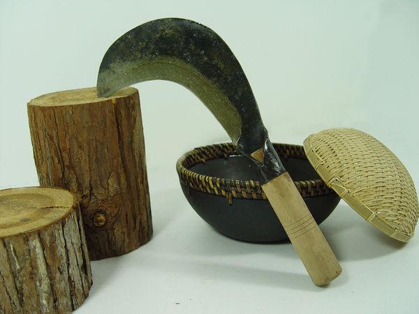 郭常喜與興達刀鋪-樂活農具-  甘蔗鐮  (E00005)種田,園藝的最佳好夥伴.