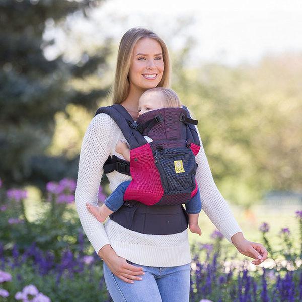 美國 Lillebaby Complete系列 Airflow 3D 透氣款背巾|背帶 桃紅