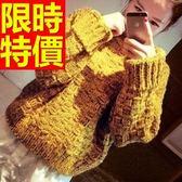 高領毛衣-正韓蓬鬆格子美麗諾羊毛長袖女針織衫62z34[巴黎精品]