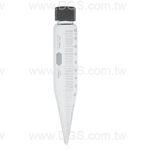 "《KIMBLE & CHASE》石油測試用離心管 Centrifuge Tube, Oil Test, 8"", Screw Cap"