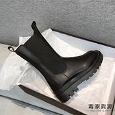 馬丁靴女瘦瘦靴中筒煙筒加絨短靴英倫風秋冬百搭【毒家貨源】