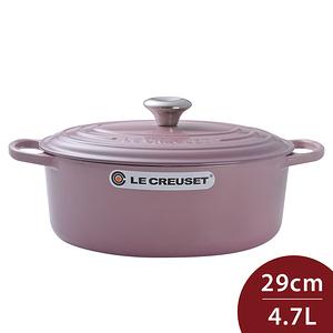 Le Creuset 新款橢圓形鑄鐵鍋 湯鍋 29cm 4.7L 錦葵紫 法國製