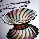 羽毛創意現代玻璃果盤