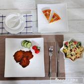 創意牛排盤子套裝西餐盤刀叉菜盤子陶瓷早餐餐具家用igo『韓女王』
