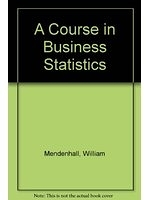 二手書博民逛書店《A course in business statistics