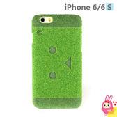 Hamee 日本 Shibaful 草地草皮 4.7吋 iPhone6s/6 硬殼 手機殼 雷雕 阿愣 (阿愣大臉) SBC-IP630