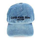 CalvinKlein CK刺繡字母牛仔棒球帽(水洗藍)103152-3