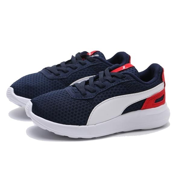 PUMA 休閒鞋 ACTIVATE PS 深藍 白紅 網布 運動 童鞋 中童 (布魯克林) 36907013