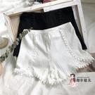 安全褲 黑色安全褲防走光女蕾絲彈力短褲白色夏季薄款打底褲女大碼可外穿 2色