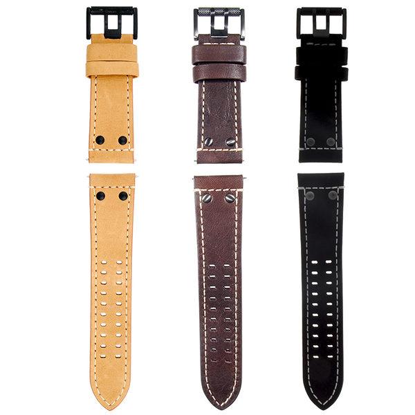 原廠 戰場系列皮錶帶-3色任選 LUMINOX 雷明時