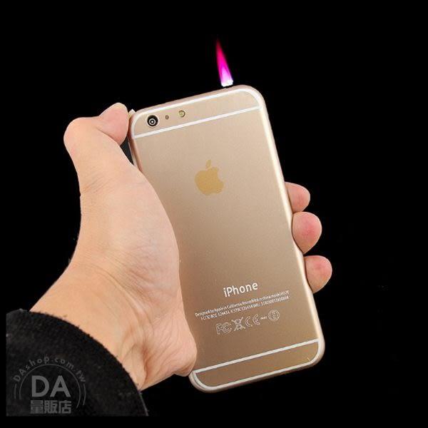 裸裝 仿真 iphone 6s 造型 打火機 i6s造型 瓦斯打火機 金色 LED照明(80-2442)
