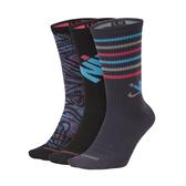 NIKE 男女運動襪(三雙入 長襪 襪子 滑板運動襪 免運 ≡排汗專家≡