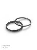 戒指男 極簡約鈦鋼黑色素圈細食尾女男戒指環時尚個性 超級玩家