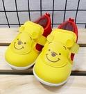 【震撼精品百貨】Winnie the Pooh 小熊維尼~台灣製小熊維尼正版兒童休閒包鞋-黃(13~16號)#19308480