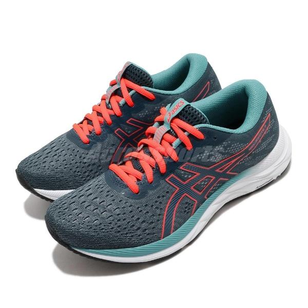 Asics 慢跑鞋 Gel-Excite 7 綠 橘 女鞋 避震 緩衝 運動鞋 【ACS】 1012A562404