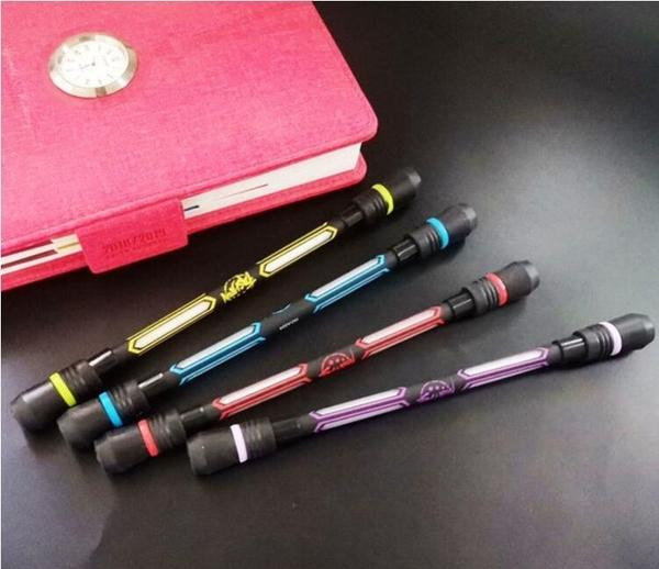 轉轉筆初學者練習轉筆專用筆鋼珠加重磨砂桿可寫字創意黑旋風轉筆