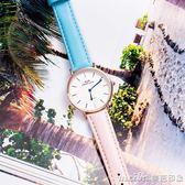 女士防水森女繫石英錶休閒可愛手錶女學生韓版簡約潮流ulzzangigo 美芭