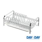 DAY&DAY 桌上型碗盤架(附滴水盤) 瀝水 餐廚 不鏽鋼 收納 廚房收納