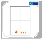 【西瓜籽文具】裕德 電腦標籤 4格 US4676 100張 三用標籤 列印標籤