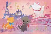 【拼圖總動員 PUZZLE STORY】瑪麗貓剪影 日本進口拼圖/Epoch/迪士尼/70P/布面