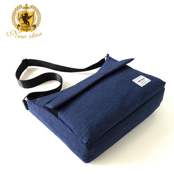 側背包 時尚韓風極簡防水前口袋斜背包包 NEW STAR BL136