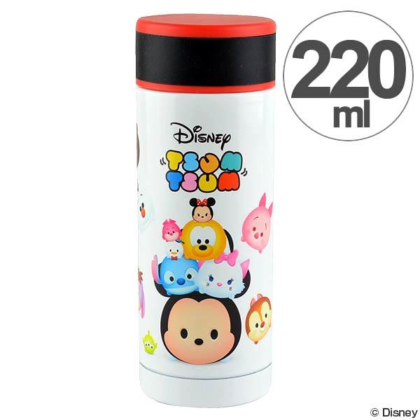 迪士尼保溫瓶 Tsum Tsum總匯造型旋轉式220ml不銹鋼保冷保溫瓶 [喜愛屋]