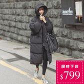 小中大尺碼M-3XL韓國爆款/匹諾曹朴信惠款超長版仿羽絨鋪棉風衣外套保暖大衣 (交換禮物 創意)聖誕
