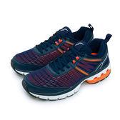 LIKA夢 GOODYEAR 風洞緩衝智能慢跑鞋 MOON WALKER系列 藍橘 73363 男