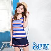 【夏之戀SUMMERLOVE】長版三件式泳衣(S16737)