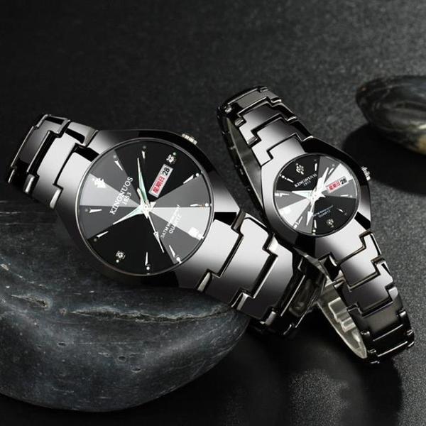 正品牌石英男錶女錶情侶手錶一對多功能男士女士對錶星期日期雙歷【限時八折】