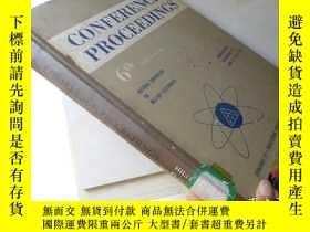 二手書博民逛書店1962罕見Conference Proceedings 6th