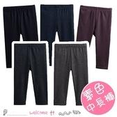 秋冬男女童 素色羊毛拉架薄款中長褲 PP褲