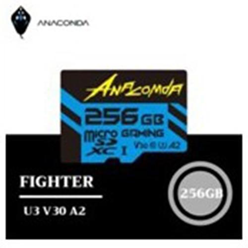 ANACOMDA 巨蟒 Fighter High Performance microSDXC UHS-I U3 遊戲專用記憶卡 256GB 記憶卡/讀:100MB/s /附轉卡/終保