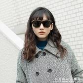HAN新款太陽鏡日常防紫外線大臉開車駕駛專用顯瘦方框墨鏡 中秋特惠