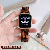 蘋果手表iwatch表帶陶瓷鏈式金屬不銹鋼時尚創意【橘社小鎮】