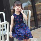 童裝女童夏季女孩洋裝兒童裙子碎花純棉薄女...