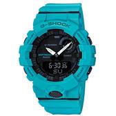 CASIOG  SHOCK G-SQUAD系列藍牙專屬APP運動腕錶-藍-