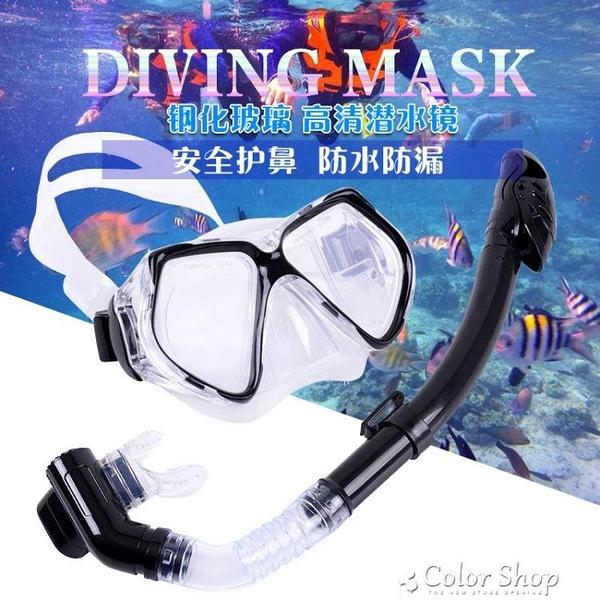 新款成人潛水鏡全半干式呼吸管潛水面罩浮淺裝備套裝浮潛二寶 快速出貨