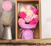 香皂花禮盒 七夕情人節禮物送女友創意玫瑰走心男生畢業生日禮物 MKS免運