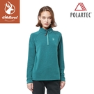 【Wildland 荒野 女 POLARTEC 彈性類羊毛功能上衣《冰河藍》】P2605/機能衣/保暖衣/衛生衣/內搭