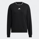 Adidas W FI GLOSS 女裝 長袖 T恤 大學T 落肩 側開衩 棉 黑【運動世界】H09766
